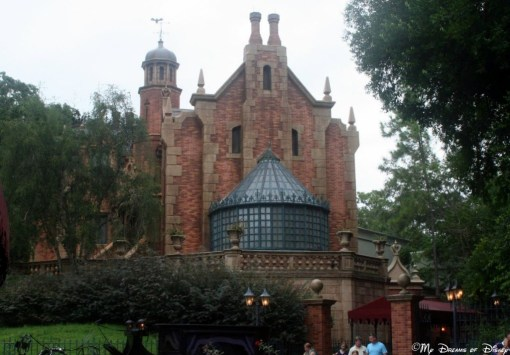The Haunted Mansion is another great example of a dark ride that is fun and a great way to beat the heat!