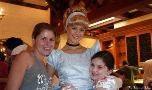 Cinderella with Stephanie and Sophie, such a great picture!