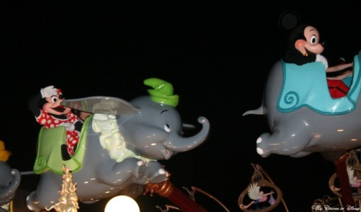 Midnight, June, 2010 -- that was when we saw Mickey and Minnie riding Dumbo with two very special guests!