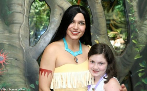 Pocahontas with Sophie at Rafiki's Planet Watch!
