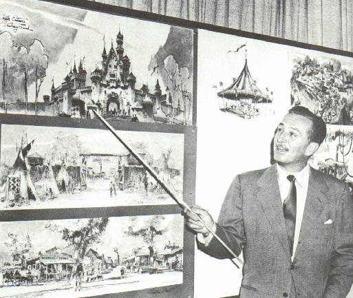 "Walt Disney explaining some of the planning that is going into his new ""Disneyland"" park!"