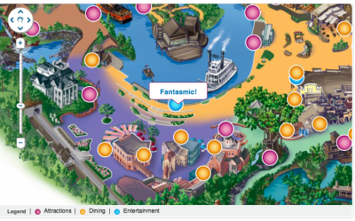 Fantasmic Map Disneyland