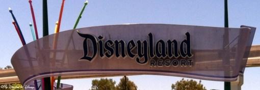 Disneyland Resort Sign