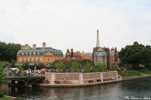 The France Pavilion is a neat one to explore, and I love the theming that this picture reveals — it is so cool!