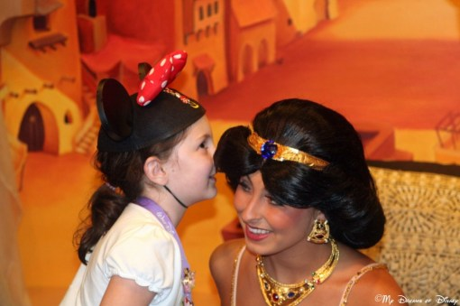Sophie and Princess Jasmine at the Morocco Pavilion