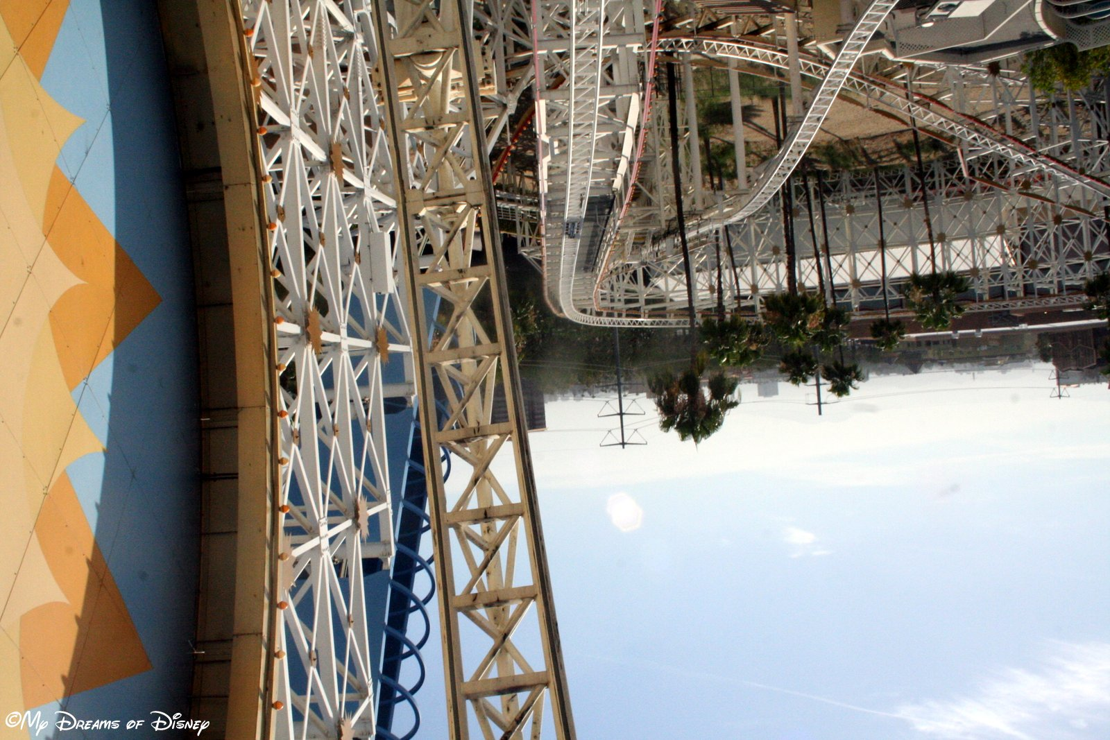 This shot is not deliberately upside down by some trick -- this shot was taken while we were upside down!