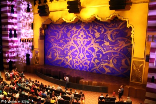 The Theater where Aladdin is performed.