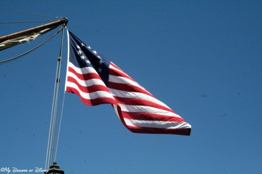 The American Flag, as it is known in the days of the Sailing Ship Columbia!