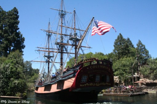 The Sailing Ship Columbia proudly displays the American Flag!