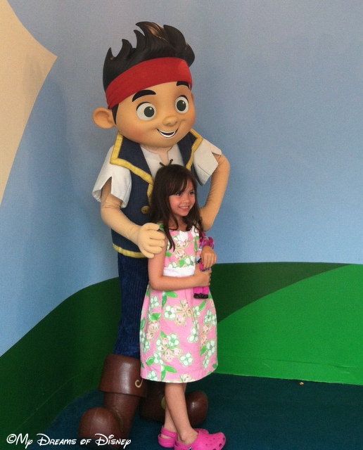 Sofie with Jake the Neverland Pirate!