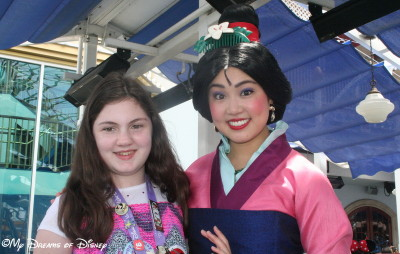 Sophie with Mulan