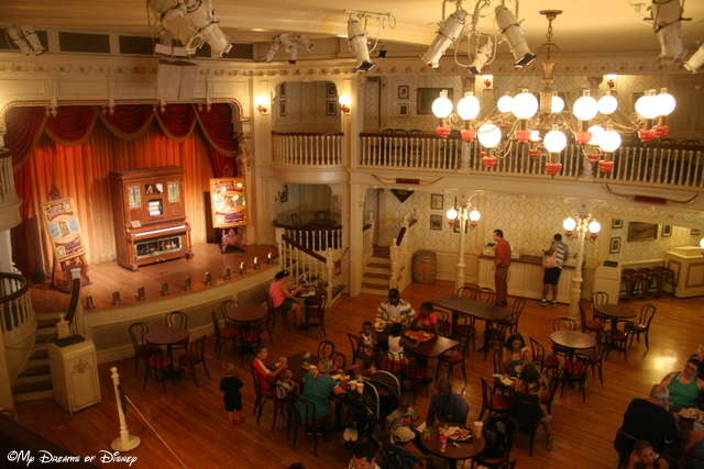 Oh, I loved eating at the Golden Horseshoe...I wish they would turn it back into a stage show though!
