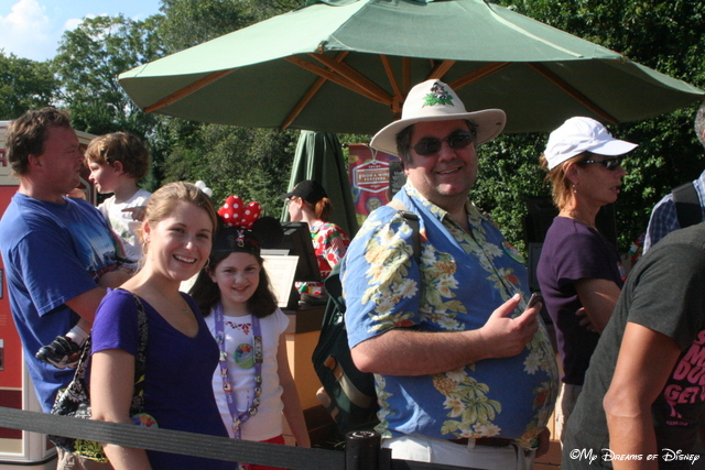Waiting in line for a snack at the Epcot International Food & Wine Festival