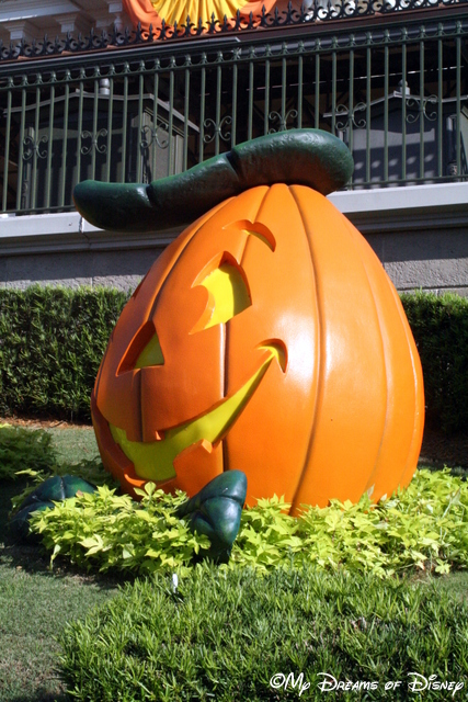 Magic Kingdom Entrance Big Pumpkin