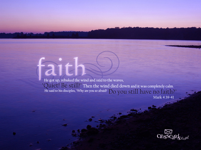 Image ©crosscards.com -- My faith is the top thing that I call upon.