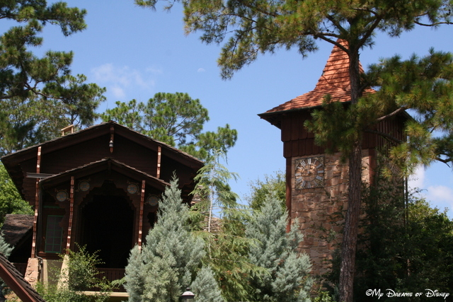 The Skyway - a bygone attraction from a bygone age at Disney...