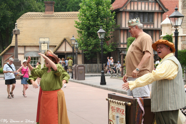 Street Performers -- like this one in the United Kingdom Pavilion -- are a lot of fun to watch!