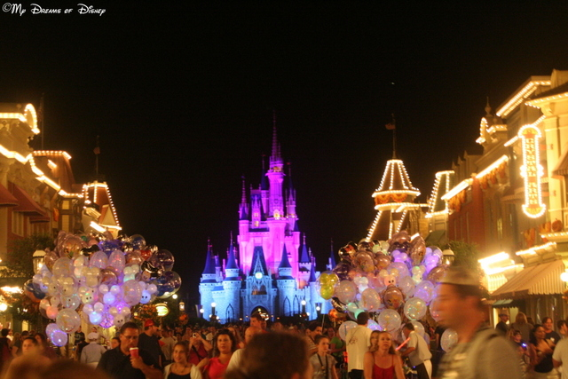 Looking back at Cinderella Castle at the end of the night, a final memory of what ranks as a top 3 trip to Walt Disney World!