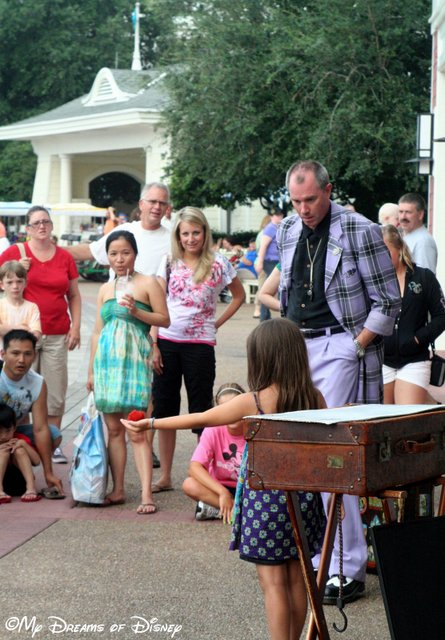 The street shows at Disney's Boardwalk are fun to watch for all ages!