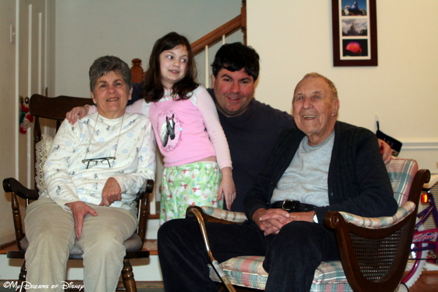 In this picture, you have 4 generations represented -- Sophie, me, my Mom, and my Grandpa