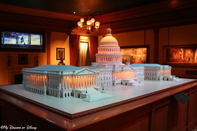 This model of the Capitol in Washington, DC, is made of the same stone as the original!
