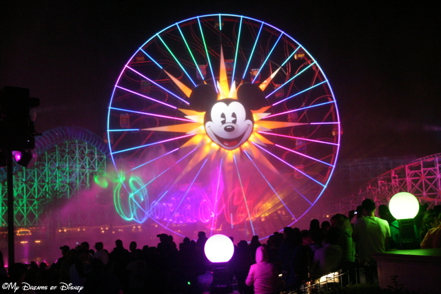 The  World of Color is a beautiful display of musical genius!