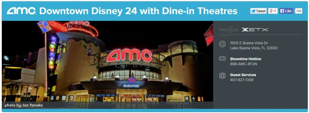 The AMC Theater at Downtown Disney!