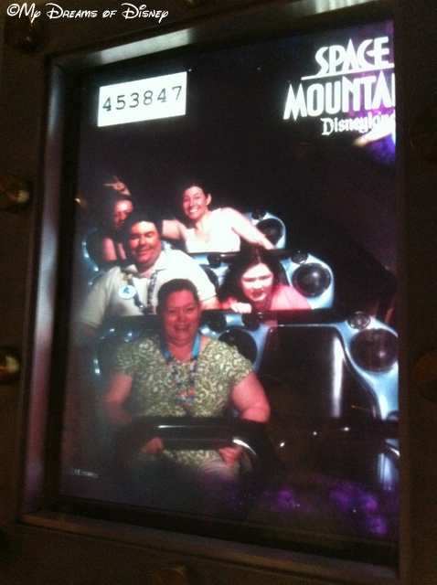 Sophie didn't have much fun on Space Mountain!