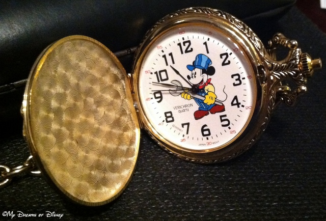 The Mickey Pocket Watch I received for Christmas has a great depiction of Mickey Mouse!