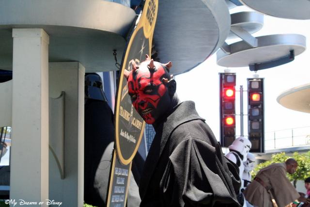 Darth Maul keeps watch at the Jedi Training Academy!
