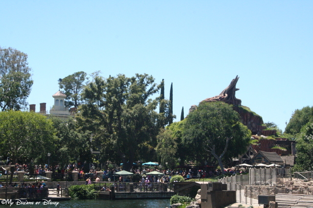 From the Sailing Ship Columbia, this shot of Haunted Mansion and Splash Mountain looks great!