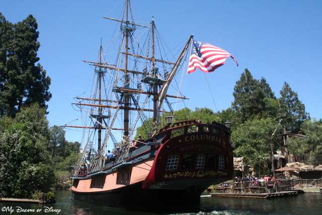 The Sailing Ship Columbia is perhaps the most relaxing boat to go on at Disneyland!