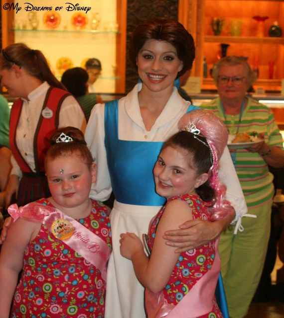 Belle shares a hug with Sophie and Anna Jane!
