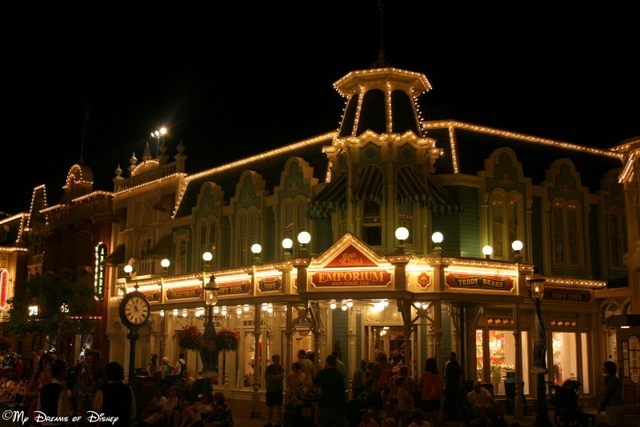 Main Street, U.S.A. at night is one of the most beautiful parts of Walt Disney World!