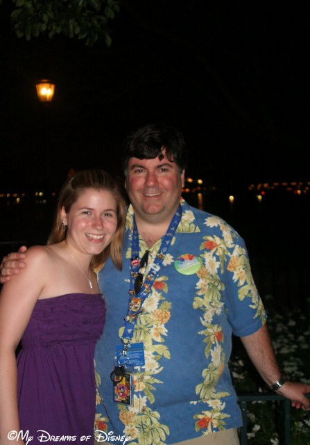 Stephanie and her old Uncle shared a photo just before Illuminations in Epcot.