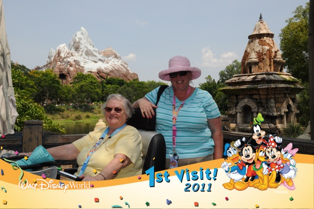 This was the first trip to Walt Disney World by Sherry, Nancy's Mom, and she had a blast!