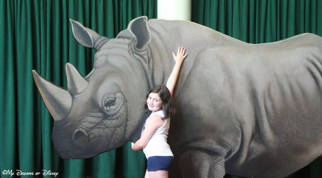 Sophie with the Rhino