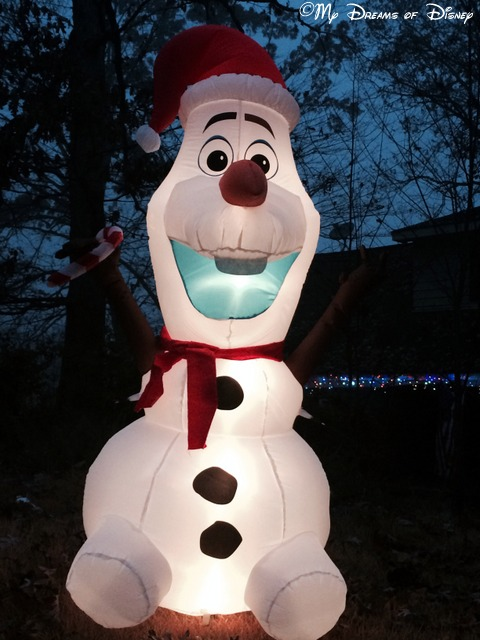 Olaf is one of the ways we celebrate a Disney Christmas -- at home!