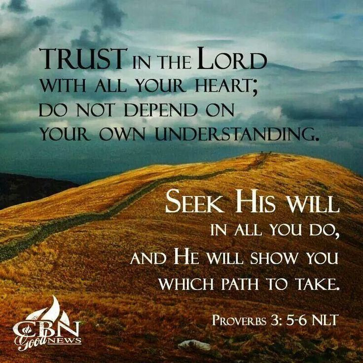 Prayers for the Week - Proverbs 3:5-6