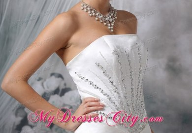 Strapless Wedding Dress Jewelry