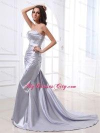 Top Evening Dresses: Silver formal evening dresses