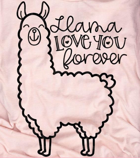 Download Llama Love You forever Valentine shirt