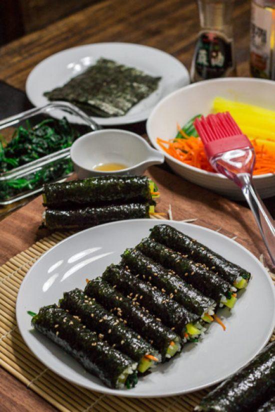 Vegan Kimbap (Vegan Korean Sushi Roll)