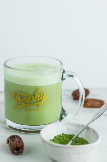 Homemade Healthy Matcha latte - hot