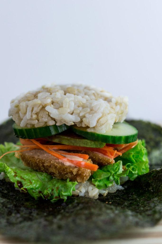 Vegan Sushi Rice Ball Sandwich