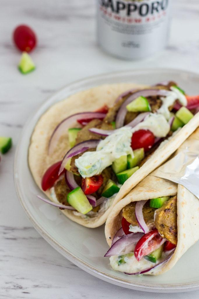 vegetarian seitan gyros