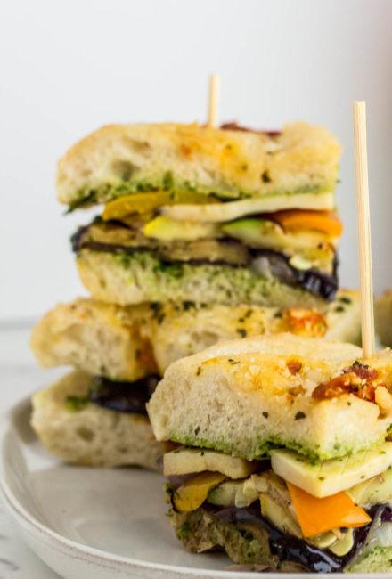 Labor Day Veggie Sandwich close up