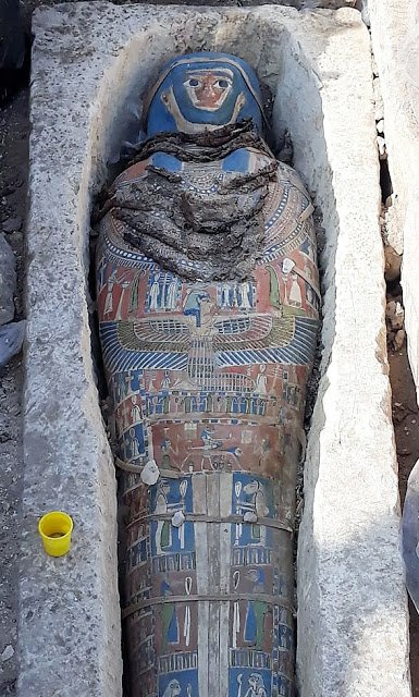Several Mummies Discovered by Egyptian Archaeologist  in Dahshur, South of Cairo 1