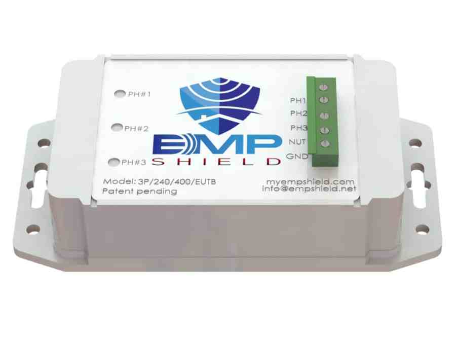 EMP Shield 277-480 Volt AC 3 Phase Generator / Industrial Model Terminal Box Version 1