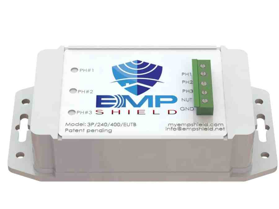 EMP Shield 120-208 Volt AC 3 Phase Generator / Industrial Model Terminal Box Version 1